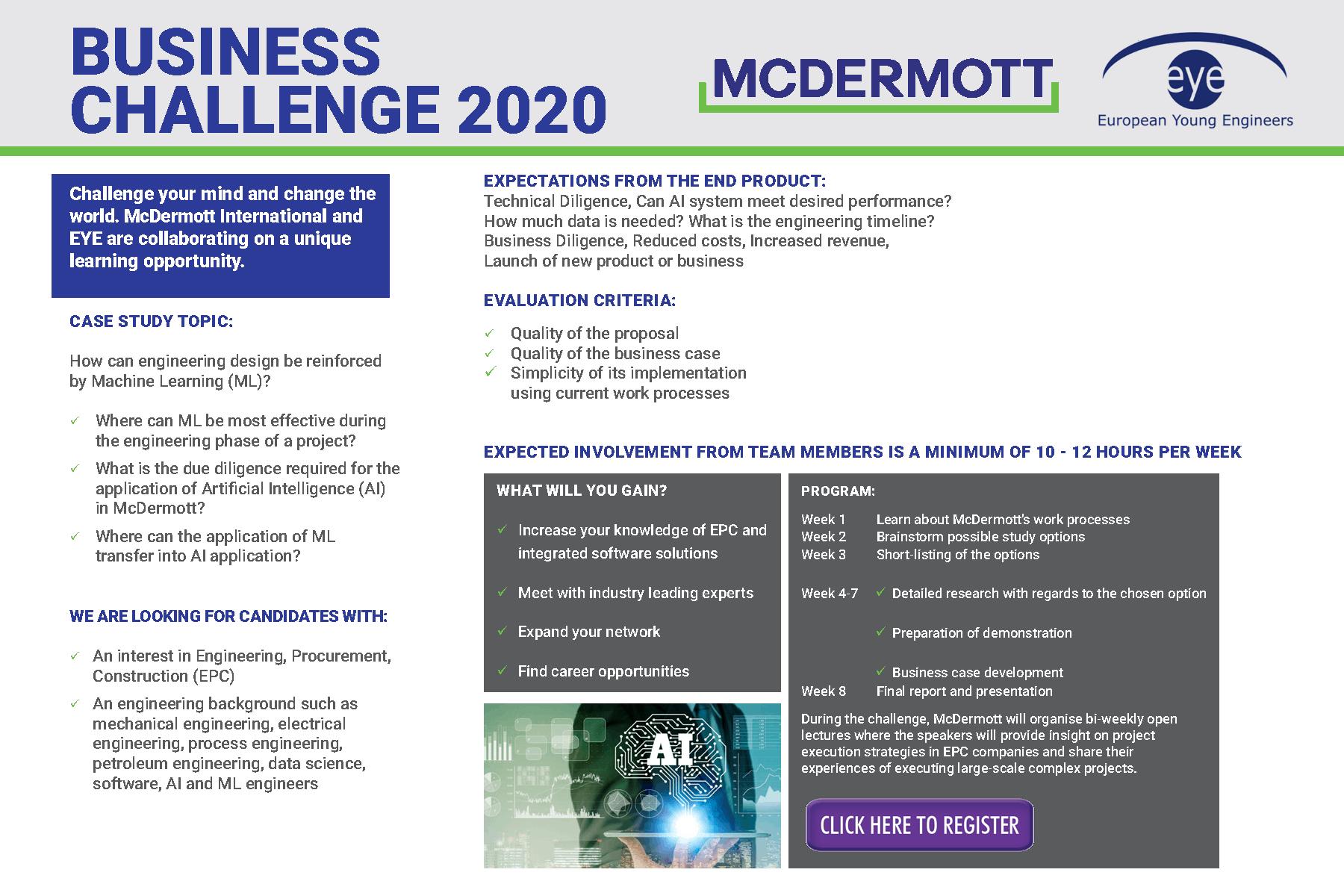 eye mcdermott flyer business challenge